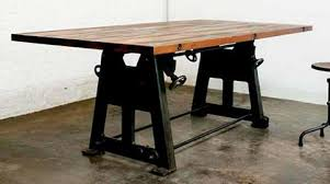 iron industrial furniture. Press Leg Dining Table In Weathered Oak And Recycled Cast Iron From Nuevo Living Industrial Furniture J