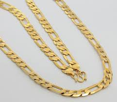 24k gold plated chain necklace for men