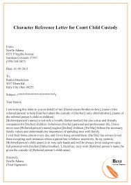 Character Reference Letter For Court Template Sample Example