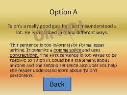 the character analysis essay the introduction go hook mention  6 2