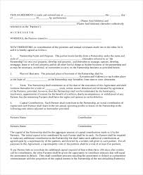 Sample Business Partnership Agreement Form - 8+ Free Documents In ...