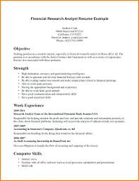 Financial Analyst Resume Objective Market Research Analyst Resume Objective Megakravmaga 57