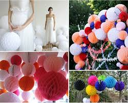 Decorative Items With Paper Decorative Hanging Paper Ball Colorful Honeycomb Paper Flower For