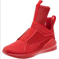 puma new shoes. new rihanna red puma sneaker. size 6 in box shoes e