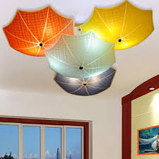 childrens ceiling lighting. Astounding Childrens Bedroom Ceiling Lights Modern Children Lamps Multicolour Umbrella Glass Lighting G