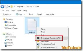 Encrypt Files Folders In Windows With Free Crococryptfile