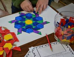 Pattern Block Fractions Cool Decorating