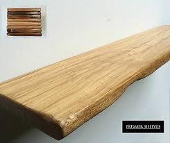 rustic oak floating shelf 8 x 1 25 handmade bespoke wood shelves