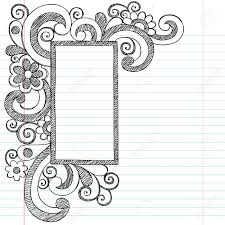 rectangle picture frame border back to sketchy notebook doodles ilration