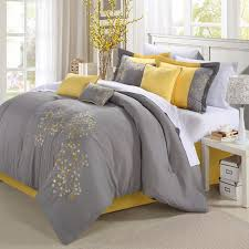 Bed Linen Decorating Yellow And Gray Bedding That Will Make Your Bedroom Pop
