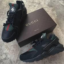 gucci shoes. +1 custom-nike-air-huarache-x-gucci-eyeconicwear gucci shoes