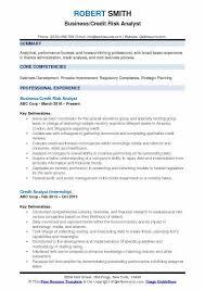 Credit Analyst Resume Credit Risk Analyst Resume Samples Qwikresume