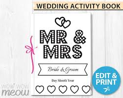 A wedding is a big social event where couples celebrate their love with family and friends. Wedding Coloring Book Children S Activity Sheets Booklet Etsy In 2021 Wedding Activities Kids Activity Books Wedding With Kids