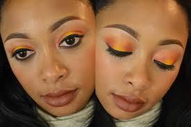 mac makeup tutorial using style predator chrome yellow and orange eye shadows
