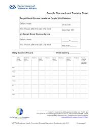 Healthy Blood Glucose Levels Chart Blood Glucose Level Tracking Chart Templates At