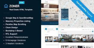 Real Estate Website Templates Enchanting Real Estate HTML Website Templates From ThemeForest