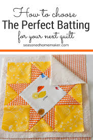 Understanding Quilt Batting - The Seasoned Homemaker & You know that point in a quilting project when you've finished a piecing the Adamdwight.com