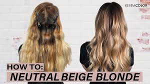 Kenra Color Chart How To Neutral Beige Blonde Hair Kenra Color