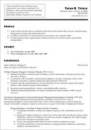 Military To Civilian Resume Objective Examples Resume Resume Resume