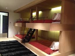 Built In Bunk Beds Pretty Sweet Queen Bunk Bed Idea Modern And Save A Lot Of Floor