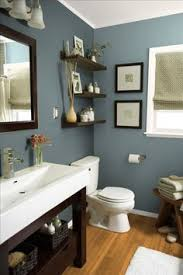 ocean blue paint for bathroom. mountain stream by sherwin williams. beautiful earthy blue paint color for bathrooms, especially when ocean bathroom