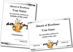 Templates For Certificates Printable Art Certificates And Art Award Templates