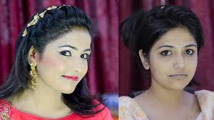 स पल प र ट म कअप simple easy party makeup full tutorial for indian s