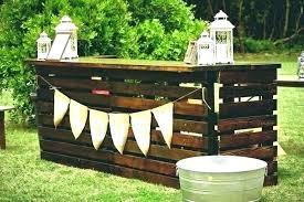 portable wood bar out door bars outdoor mini bar rustic ideas weather portable min diy portable