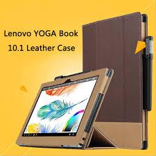 for lenovo yoga book 10 1 laptop case folio premium pu leather stand cover for lenovo yoga