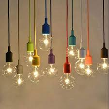 Image Modern Injuicy Modern Edison Bulb E27 Weave Silica Gel Pendant Lights Fixtures Colorful Rubber Rainbow Diy Led Amazoncom Injuicy Modern Edison Bulb E27 Weave Silica Gel Pendant Lights