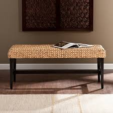 Seagrass Wooden Bench