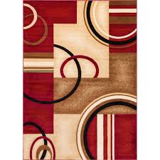 this review is from barclay arcs and shapes red 4 ft x 5 ft modern geometric area rug