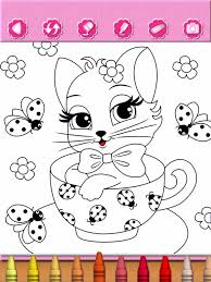 Small Picture Cat Kitty Kitten Coloring Pages Free Girl Games on the App Store