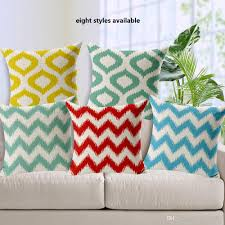 fashion high quality cotton linen geometric wave striped decorative throw pillow case cushion cover sofa home decor outdoor patio seat cushions patio chairs