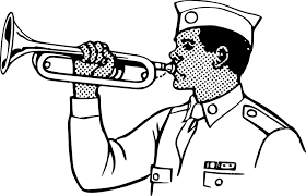 Image result for free clipart for a bugle