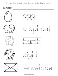 Modest Letter E Preschool Coloring Pages Coloring For Funny Letter ...