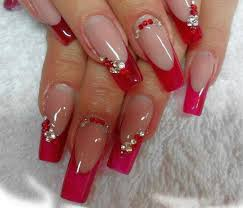 nail designs red nail art