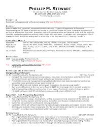 How To Write A Resume With Military Experience Resume Template Sample