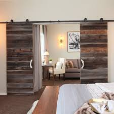 3000mm to 4880mm Double Sliding Barn Door Heavy duty modern wooden ...