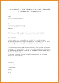 Noc Letter Format For Visa From Parents Copy Request For Noc Letter