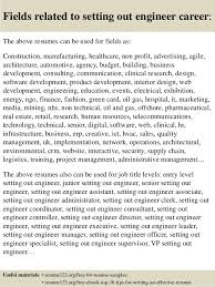 setting out a cv top 8 setting out engineer resume samples