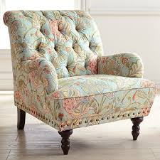 Blue Patterned Chair Cool Chas Blue Floral Armchair Pier 48 Imports