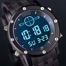 mens tactical watch infantry mens lcd digital wrist watch sport black rubber tactical army stopwatch