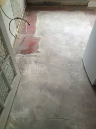 quarry tiled floor before restoration woking