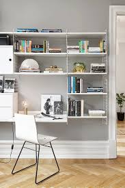 shelving systems for home office. Home Office With The String Shelf Via Design Chaser. Shelving Systems For