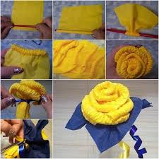 How To Make Rose Flower With Tissue Paper Creative Ideas Diy Easy Napkin Paper Rose