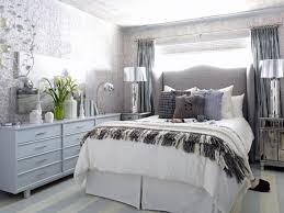 white bedroom with blue accents. Delighful Bedroom View In Gallery White Gray Blue Silver Room In White Bedroom With Blue Accents