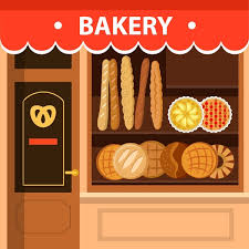 Bakery Store Facade Design With Bread Display Free Vector In Adobe