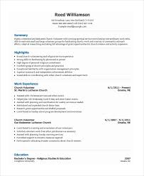 volunteer resumes