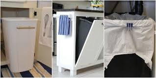 Kitchen Cabinet Garbage Can Garbage Can Hacks How To Organize Your Garbage